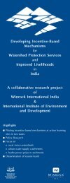 Developing Incentive-Based Mechanisms for Watershed Protection ...
