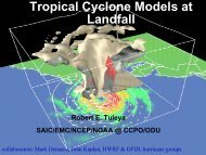 Land surface coupling in hurricane models and diagnostics - HFIP