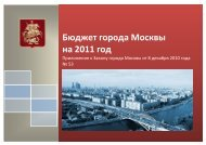 Бюджет города Москвы на 2011 год