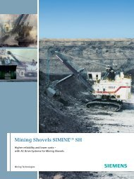 Mining Shovels SIMINE SH - Industry - Siemens
