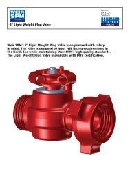 LW PLUG VALVE FLYER - FRONT - Weir Oil & Gas Division