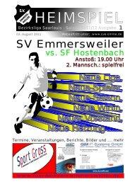 """Download """"HEIMSPIEL"""" Ausgabe 1 - Förderkreis Emmersweiler eV"""