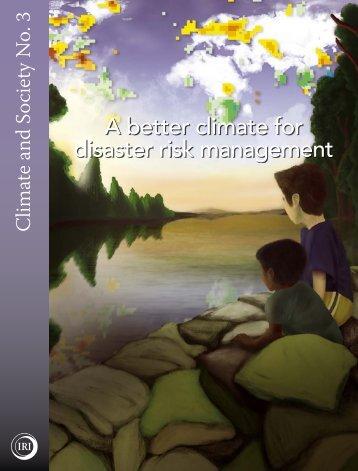 A better climate for disaster risk management - International ...