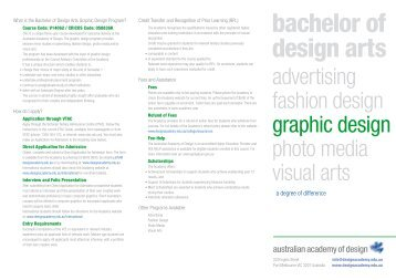 Graphic Design 1 - Australian Academy of Design