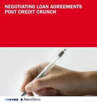 negotiating loan agreements post credit crunch - The International ...