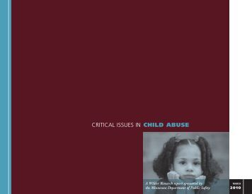 CHILD ABUSE CRITICAL ISSUES IN - Amherst H. Wilder Foundation