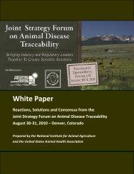 ADT White Paper - 8-31-10 - Animal Disease Traceability Forum