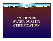 section 401 water quality certification - River Basin Center at the ...