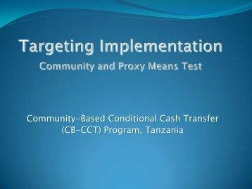 Community-Based Conditional Cash Transfer (CB-CCT) Program ...