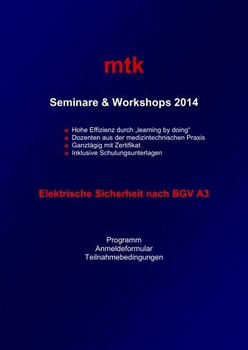 Informationen & Anmeldefax (204.78 kb) - MTK Peter Kron GmbH