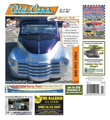 Join the OCW community at co at - Old Cars Weekly