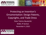 Design Patents, Copyrights, and Trade Dress