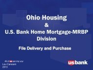 US Bank Delivery and Funding - Ohio Housing Finance Agency
