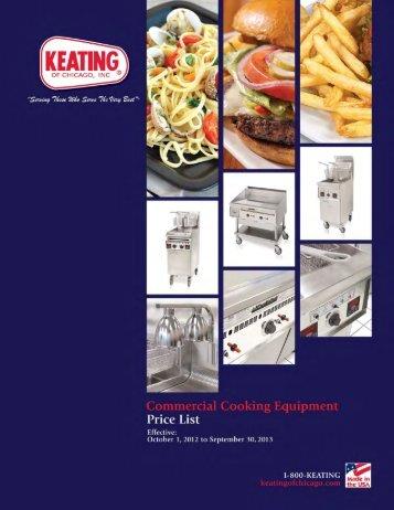 Equipment Price List - Keating of Chicago