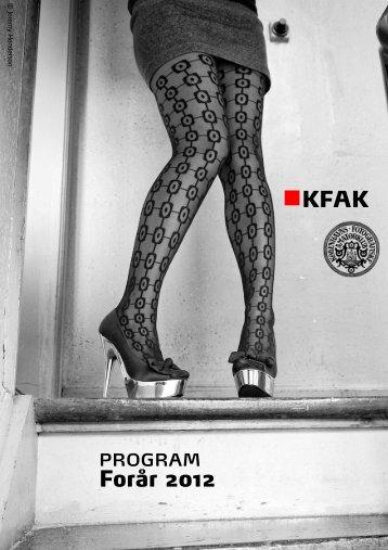 program Forår 2012 KFAK