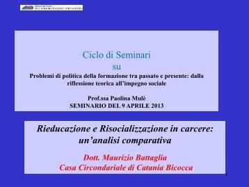 slides dott. M. Battaglia