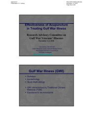 Gulf War Illness (GWI) - US Department of Veterans Affairs