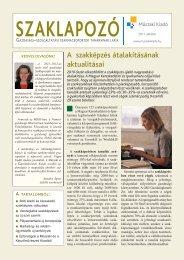 A szakképzés átalakításának aktualitásai - Műszaki Könyvkiadó