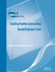 Building Healthy Communities: Should Employers Care? - National ...