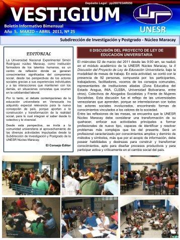 Año 3, Noviembre – Diciembre 2009, No.15 - Universidad Nacional ...