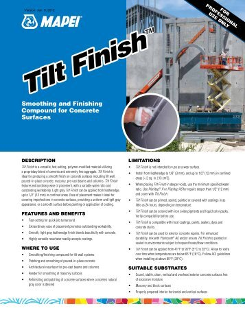 Tilt Finish Tilt Finish - Northland Construction Supplies