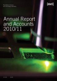 Annual report 10/11 - Dstl
