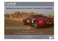 Setting the Scene for Electric Vehicles in Australia - Australian ...