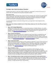 Familiprix Item Centre Excellence Checklist - GS1 Canada