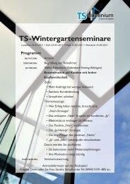 Wintergartenseminare - TS-Aluminium Profilsysteme GmbH & Co. KG