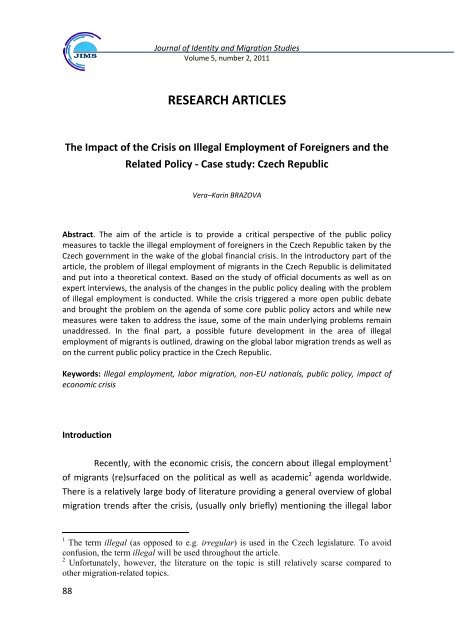 research articles - Research Centre on Identity and Migration Issues ...