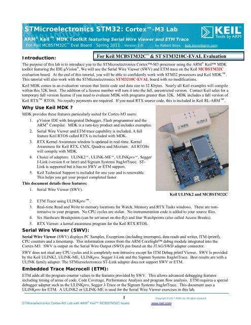 STMicroelectronics STM32: Cortex™-M3 Lab - Arm