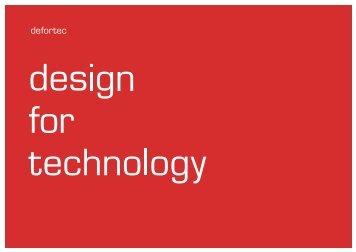 können Sie unser aktuelles Portfolio herunterladen. - defortec GmbH