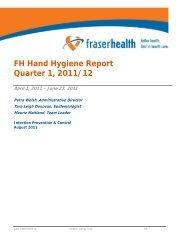 Hand Hygiene Report Quarter 1 - Physician - Fraser Health