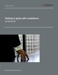 Getting to grips with compliance at Generali - Alfabet