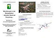 Moortherapie in der Rehabilitation - Deutsche Gesellschaft für Moor