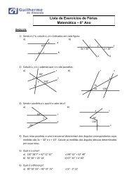 Lista de Exercícios de Férias Matemática – 8° Ano - Colégio ...