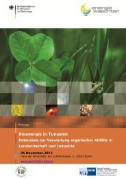 """Einladung zur Informationsveranstaltung """"Bioenergie in Tunesien ..."""