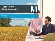 Tagungsmappe der Munich Airport Academy - Flughafen München