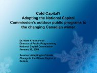 Cold Capital? - Ontario Centre for Climate Impacts and Adaptation ...