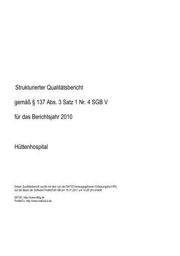 Strukturdaten, ges. QB 2010 - KTQ