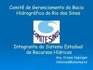 Comitê de Gerenciamento da Bacia Hidrográfica do Rio dos Sinos ...