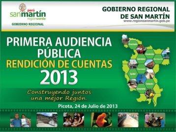 I AUDIENCIA PÚBLICA 2013 - Gobierno Regional de San Martín