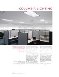 Green Business Quarterly Fall 07 - Columbia Lighting