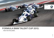 ForMula BMW talent cuP 2013. - BMW Motorsport