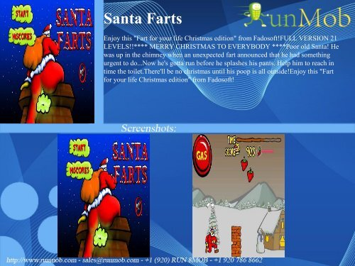 Santa Farts - RunMob