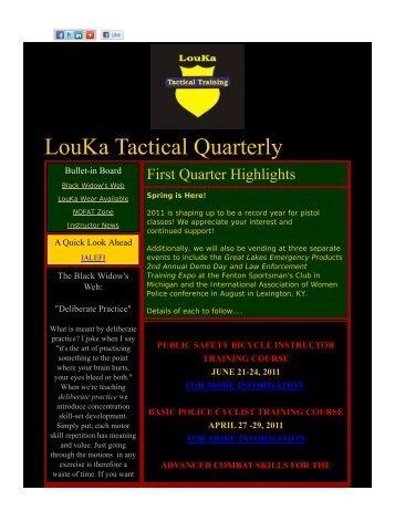 First Quarter 2011 - LouKa Tactical Training, LLC