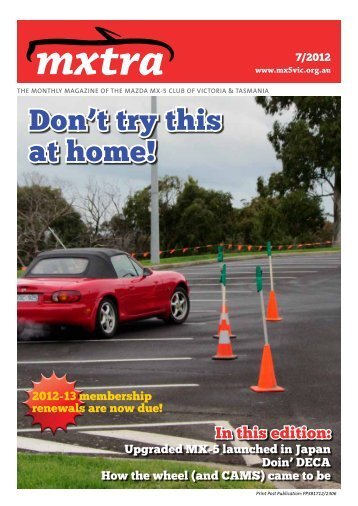 July - Mazda MX-5 Club of Victoria & Tasmania