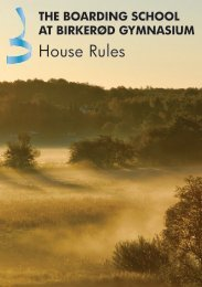 The Boarding School House Rules - Birkerød Gymnasium, hf, IB og ...