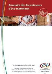 Annuaire des fournisseurs d'éco-matériaux