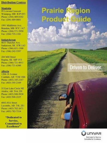 Prairie Region Product Guide - Univar Canada